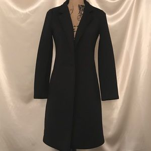 Nanette Lepore Long Black Coat Size Small